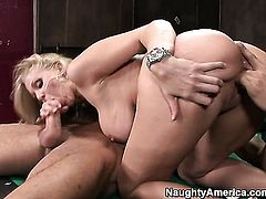 Oriental Julia Ann with big butt gets her snatch filled full of cock in steamy action with Danny Mountain