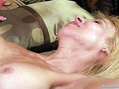 Unbelievably sexy tart Erica Lauren loves getting her wet spot licked by lesbian Sara Stone to orgasm