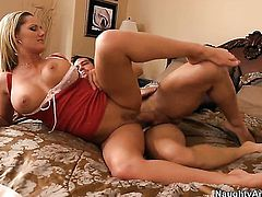 Johnny Castle attacks playful Zoe HolidayS vagina with his love torpedo