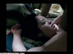 Submissive asian schoolgirl gets face abused
