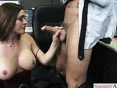 Exotic Krissy Lynn with juicy ass and hairless muff cant live a day without getting fucked by hot guy Talon