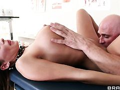 Allison Star with giant tits just feels intense sexual desire and fucks Johnny Sins like mad