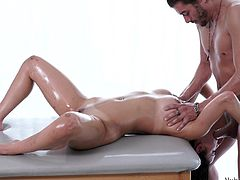 dillion enjoys her massage and fuck