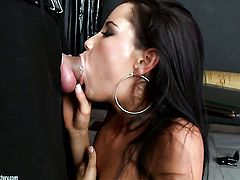 Brunette tart Tanner Mayes finds herself getting rammed again