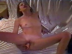 Shes been trying to be a good girl, but she has to let her inner slut free Watch this horny little 18 year old take a break from homework as she goes for her favorite hard sex toy.