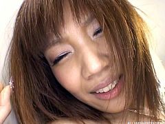 Akina is a very good worker. That is when she decides to work instead of fucking around, literally. She and her coworker are out of sight and he sucks on her tits, as well as fingers her pussy. He also uses a vibrator on her, making it hard to stifle her moans. She gets on her knees and blows him.