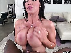 Brunette Nikki Benz with juicy booty has great sexual experience and expands it with hard dicked guy