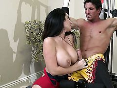 Milf is having some gym sex