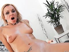Omar Galanti plays hide the salamy with Lolli Moon in anal action before cock sucking