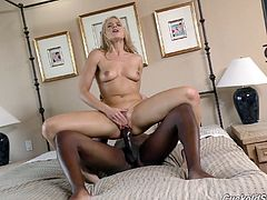 White girl has a secret hook up with a hung black guy in a hotel