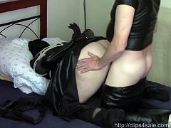 Lady in black, part one: Bondage sex