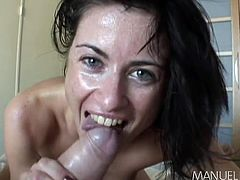 There is one thing that all of the honeys Manuel has fucked have in common. They are more than happy to have his big dick rammed in their asses. Cecilia is one hot milf, with a nice pair of cute little titties. After slurping on his meat, she bends over, to get her butt pounded hard and fast.