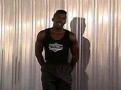 Michael loves to touch himself when he is alone. He is a handsome black man, who does not care if he has a partner with him. All he wants to do, is satisfy his big black dick. He undresses and shows off his sexy body, slaping his hard cock. Enjoy!