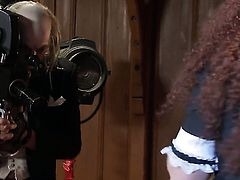 Alektra Blue and Nicki Hunter loses control in wild girl-on-girl action