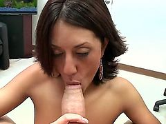 Lyla Storm is a hot Latina that is on her knees. She is giving a blow job and is cumshot in the face. She swallows it all up like a good girl.