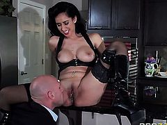 Senorita Isis Love gives Johnny Sinss throbbing dick a try