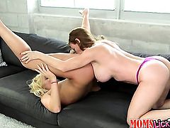 Close up of two girls lesbian play
