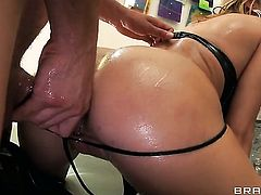 Charisma Cappelli is hungry for hardcore anal fucking and gets used by horny Mick Blue after blowjob
