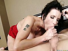 Shay Sights with huge melons spends her sexual energy with Xander Corvuss hard man meat in her vagina