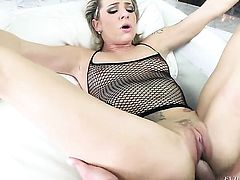 Bailey Blue and her hard cocked fuck buddy Toni Ribas are in the mood for oral sex