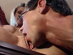 Spicy Secretary Ryan Conner Has bonking close to Her chief And has A cumload cumload