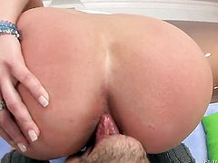 Alanah Rae gets the mouth fuck of her dreams with hard cocked dude