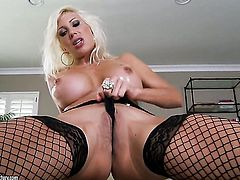 Blonde Puma Swede dildo fucking her love tunnel