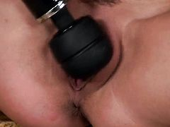 Ashley Graham with juicy jugs and smooth cunt is in the mood for pussy fingering