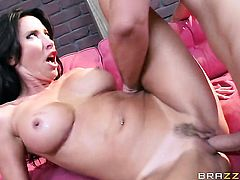 Good looking hoochie Lezley Zen fucks the jizz out of Keiran Lees love torpedo