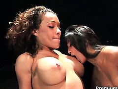 Cassidy Clay is in heaven doing it with hot lesbian Mikayla Mendez