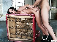 Shameless gal Kirsten Price gets turned on before she takes Keiran Lees sausage in her eager mouth a