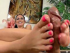 Emmanuelle London is doing a footsie