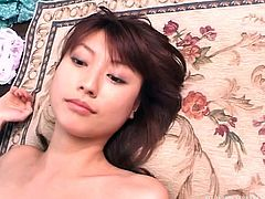 This elegant Japanese milf is on her knees for really hard cock. The sexy slut has a cock in each hand, as she jerks and sucks. When she is on her back it is easy for one of her partners to enter her cunt and fuck her.