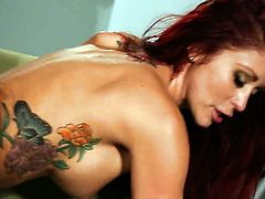 Monique Alexander turns dude on to make him unload
