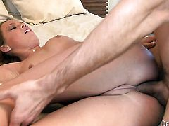 Haley Sweet has fire in her eyes as she gets her throat fucked by her bang buddy