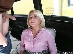 Blonde Casey Cumz with phat ass gets her lovely face painted with man goo