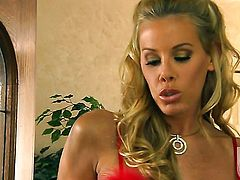 Nicole Sheridan gets her mouth pumped full of schlong in cock sucking action with hot dude