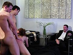 Chanel Preston takes guys rock hard snake in her mouth
