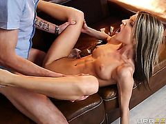 Gina Gerson makes Danny Ds tool harder before getting her asshole poked