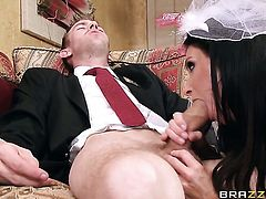 Danny D is horny as hell and cant wait any more to drill sex starved India Summers mouth