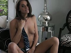Tori Black is curious about polishing her pussy hole on cam