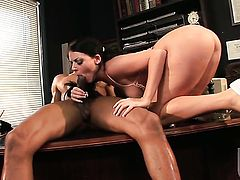 Sophie Dee has some dirty interracial sex fantasies to be fulfilled