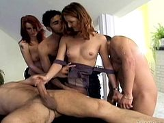 She rips his clothes off and slams herself down on his cock