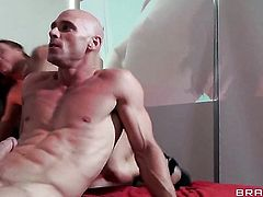 Johnny Sins uses his rock hard love wand to bring Bodacious tramp Diamond Foxxx  Mackenzee Pierce with gigantic breasts to the height of pleasure