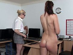 Bad Secretary spanked hard