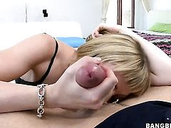 Adrianna Nicole gives deep throat job