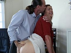 Shylas boss showed her the way to have sex but still remain a pure virgin - by having anal sex!