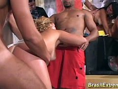 wild brazilian groupsex anal fuck party orgy with horny latina chicks