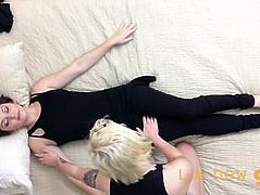 CUTE GIRL TRICKED INTO LESBIAN MASSAGE
