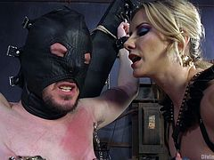 Maitresse Madeline is well versed in men. She knows what they like, what makes them horny and what they are afraid of. And all the knowledge she applies here, at Divine Bitches. Today, our best mistress entertains with Slave Fluffy. Here he will go through all the torments of hell...